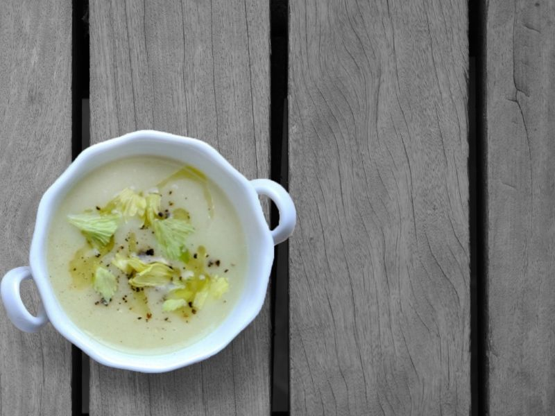 Spanish Leek and Celery Soup Recipe closup