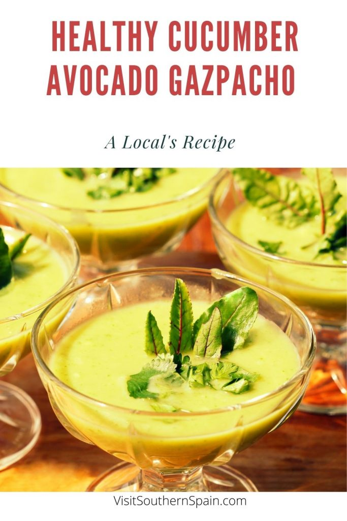 Are you interested in trying a Spanish Cucumber Avocado Gazpacho recipe? We have for you a super delicious cucumber avocado soup. This cold cucumber soup recipe is the perfect choice for the summer when all you want to eat is a chilled soup. If you're on a keto diet, know that this keto avocado soup is great for you. The cold cucumber and avocado soup is so simple to make and its taste is light and refreshing. #cucumberavocadogazpacho #cucumbergazpacho #avocadosoup #coldspanishsoup #gazpacho