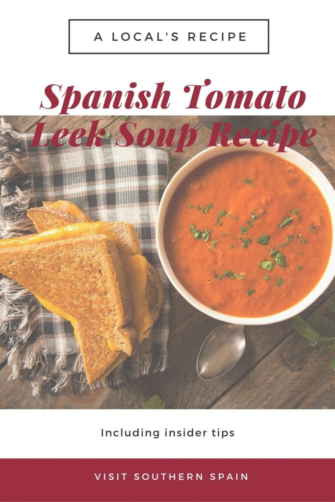 Are you looking for a Spanish Tomato Leek Soup Recipe? This homemade creamy tomato soup with leek is delicious and is ready in no time. You can prepare this healthy leek soup during winter and summer as well because it can be served as a cold tomato vegetable soup. You no longer have to rely on canned soups because this tomato and leek soup is ready in under 50 minutes. Serve it with fresh toast and some cheese for a cheesy texture. #tomatoleeksoup #spanishsoup #healthysoup #tomatosoup #leeksoup