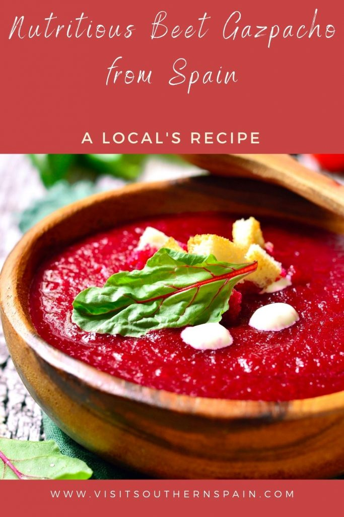 Are you looking for a Nutritious Beet Gazpacho from Spain? As summer is already here, you'll need a red beet gazpacho to get you through the day. This colorful and tasty beet soup is a Spanish gazpacho that stands out thanks to its beautiful color. After you've tried this cold beet soup, you'll see that it's by far the best gazpacho you've ever tried. The beet gazpacho recipe is easy to make and it's a very nutritious Spanish soup. #beetgazpacho #coldbeetsoup #spanishgazpacho #beetsouprecipe