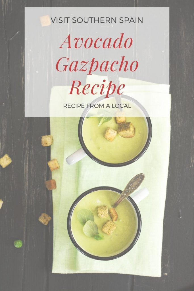 Are you looking for a Delightful Avocado Gazpacho Recipe? We have for you an avocado soup recipe to make your summer more enjoyable. This avocado soup is a perfect choice when you are in a hurry and just want to eat a delicious chilled soup. The gazpacho with avocado has a unique taste and incredible texture thanks to the nutritious avocado. That's why this avocado gazpacho soup is one of the best avocado recipes you've ever tried! #avocadogazpacho #spanishsoup #avocadosoup #gazpacho #coldsoup