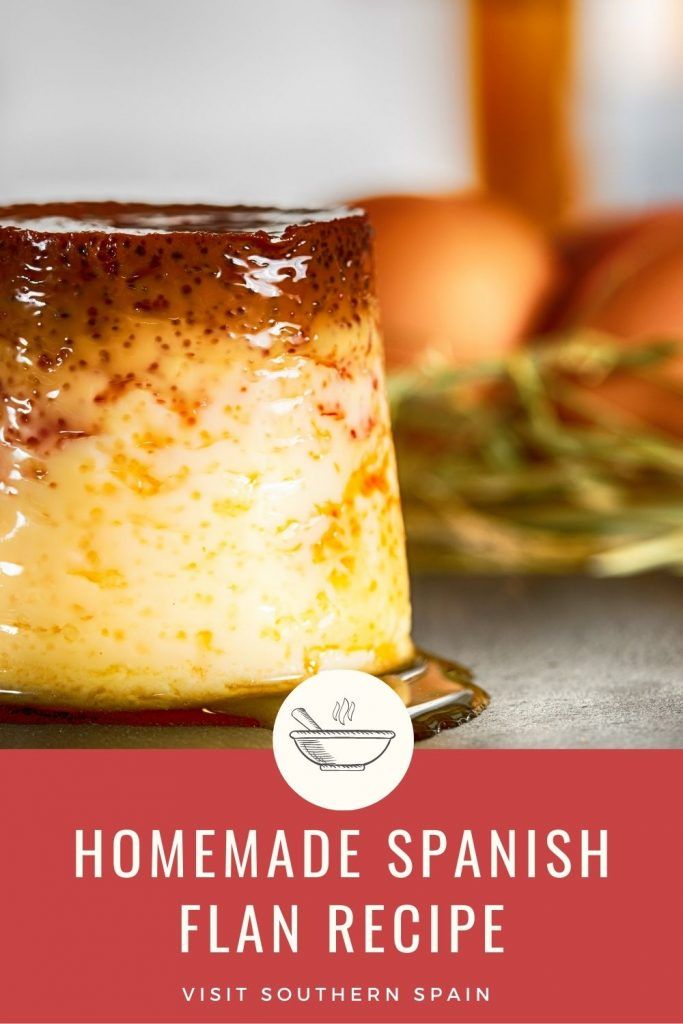 Are you looking for a Homemade Spanish Flan Recipe? You'll never know what perfection is until you've tried the traditional Spanish flan recipe. This easy flan recipe is a creamy dessert, with a soft taste and a caramel sauce that binds the flavors together. This is the best flan recipe if you want to impress your guests or just want an easy flan recipe for your family. The Spanish flan is a simple dessert but the simplicity makes it stand out. #spanishflan #flanrecipe #spanishdessert #easyflan