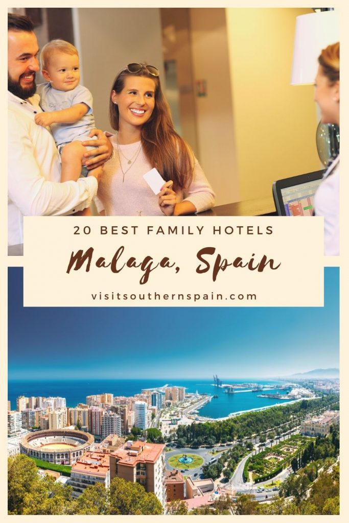 Are you looking for the best family hotels in Malaga, Spain? We have a thorough travel guide to help you find the perfect family hotel in Malaga. Our guide will help you choose from a variety of kid-friendly hotels, from budget ones to 5-star hotels in Malaga. The beautiful Andalusian city will offer your family an amazing holiday, being one of the perfect places to go with kids. Here are the 20 best family hotels in Malaga right now. #spain #malaga #familyhotels #hotelsmalaga #familyholiday