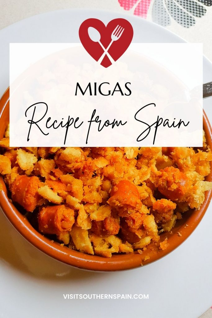 Are you looking for a Traditional Spanish Migas Recipe? You only need to try this authentic Migas recipe once because is by far the best breakfast you can make! This Migas recipe has everything you need to start your day for it's hearty and nutritious. This is an easy Migas recipe but it stands out thanks to the delicious combination of chorizo and eggs. No need to search other recipes for Migas, just try our flavourful & tasty Migas breakfast! #spanishmigas #migasrecipe #migas #migasbreakfast