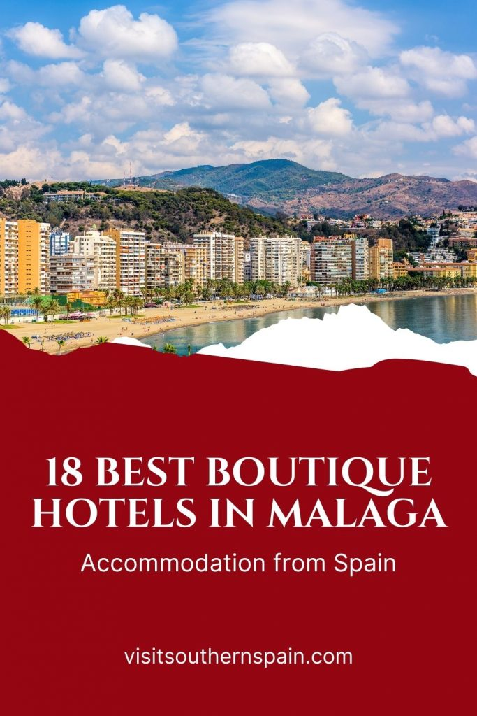 Are you looking for the best boutique hotels in Malaga, Spain? We're here to help you find the perfect hotel, from budget one to 5 star hotels in Malaga. Our guide includes information about some of the best boutique hotels in Malaga. The beautiful Andalusian city promises a vacation you won't soon forget, and that has a lot to do with the boutique hotels Malaga has to offer. Here are the 18 best boutique hotels in Malaga right now. #spain #malaga #andalucia #boutiquehotels #hotelsmalaga