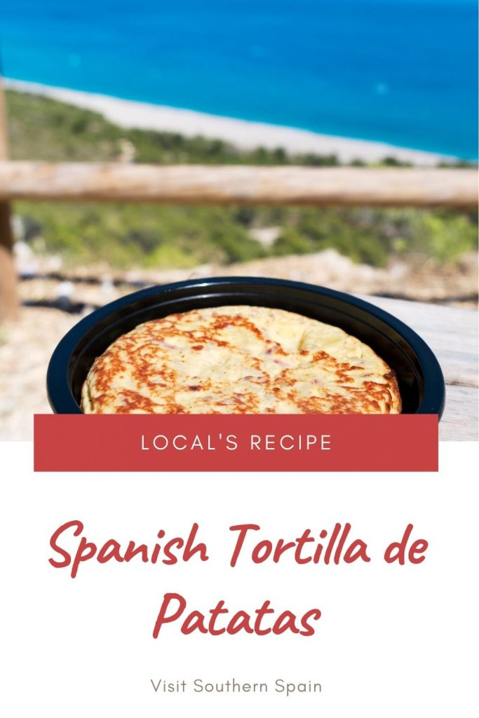Are you looking for a Tortilla de Patatas recipe? This Spanish tortilla recipe is Spain's most iconic recipe. The ingredients are straightforward, white onion, eggs, and potatoes, yet the taste is like no other. It's an easy omelette that requires a minimum of effort and it's ready in not time. The tortilla de patatas recipe can be served at any time but starting your day with a traditional Spanish breakfast is just what you need! #tortilladepatatas #spanishomelette #spanishbreakfast #tortilla