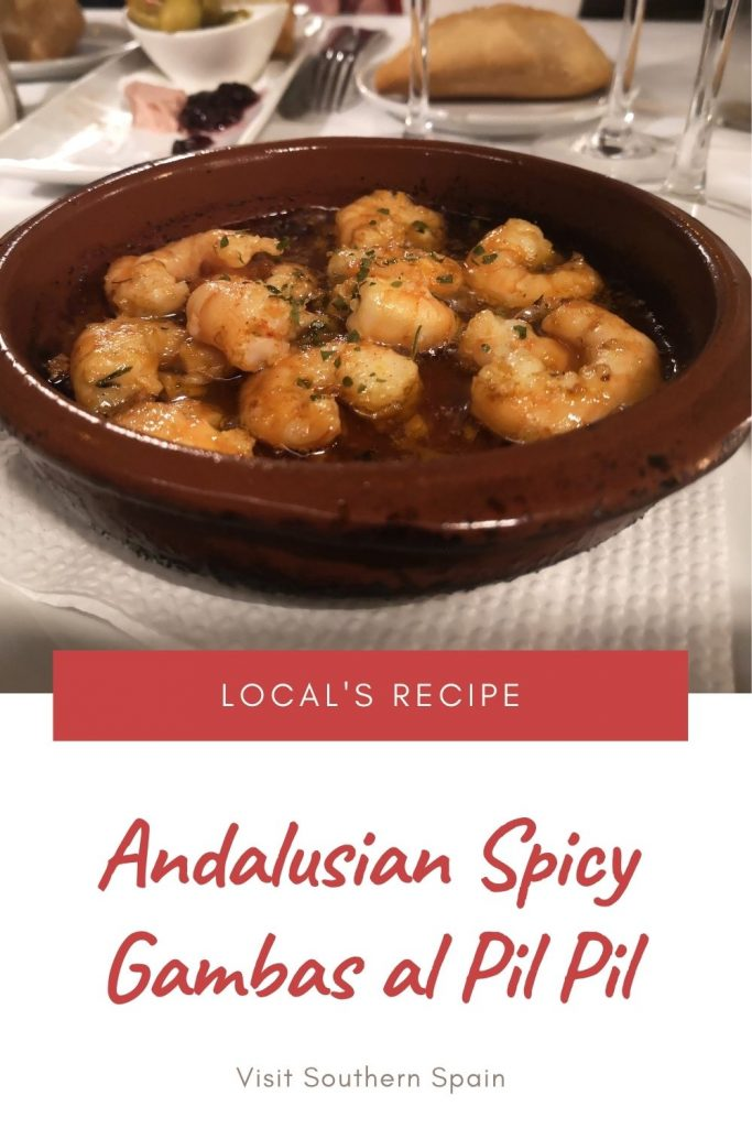 Are you looking for an Andalusian Spicy Gambas al Pil Pil? We have for you the famous garlic prawns recipe or gambas pil pil as is known worldwide. This Spanish recipe originates from Andalusia and is a combination of a delicious and spicy Pil Pil garlic sauce and, of course, gambas (prawns). Normally served in Cazuela, a clay pot, this Spanish gambas al pil pil is done in under 30 minutes and will offer you an explosion of flavor! #gambasalpilpil #garlicprawns #spanishrecipe #garlicsauce