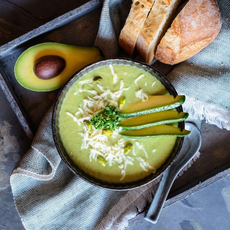 avocado in soup