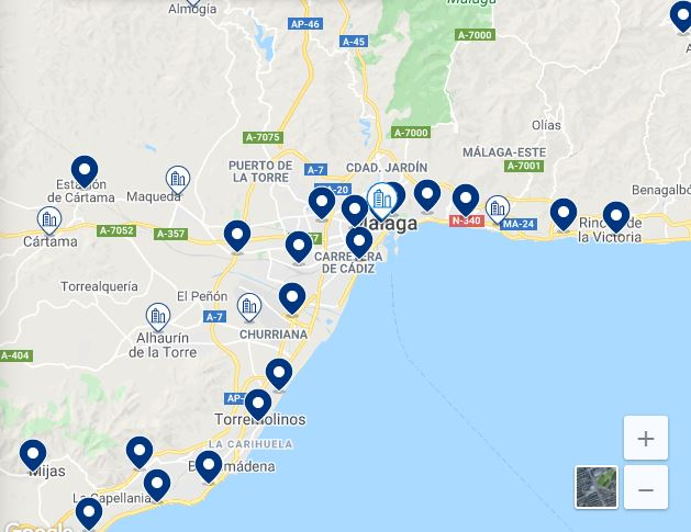 map best boutique hotel in malaga