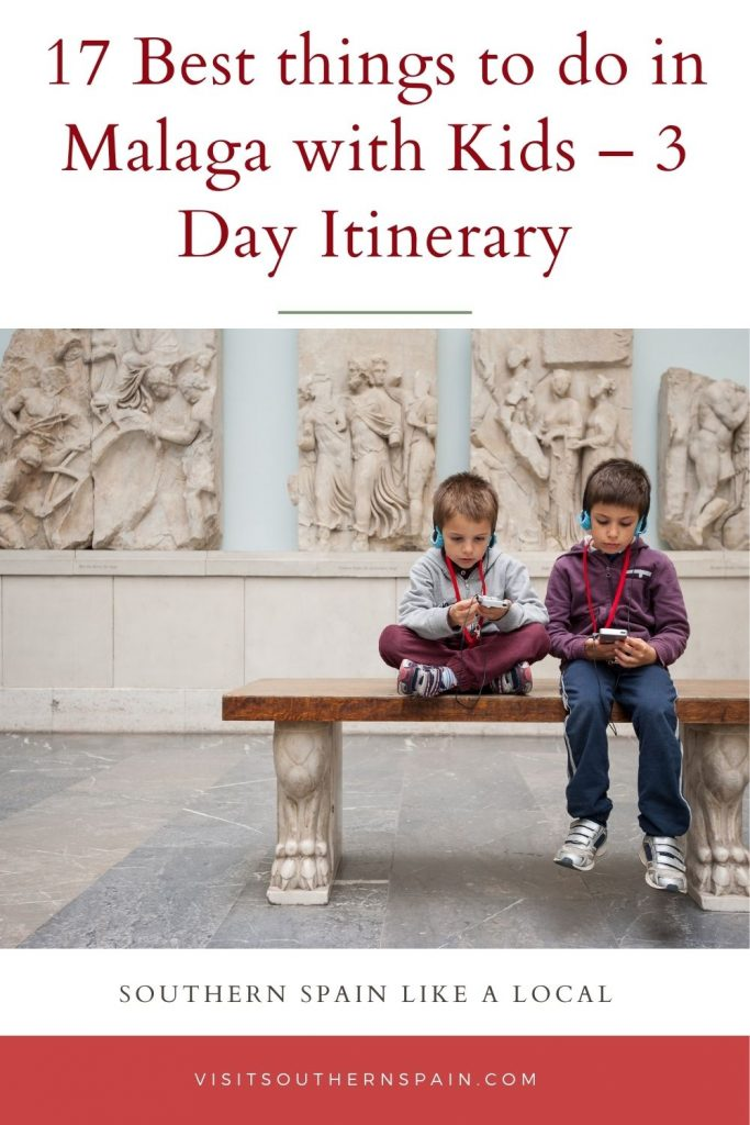 Are you wondering about the best things to do in Malaga with kids? If you're on your way to the charming Andalucian city of Malaga, our 3 Day Itinerary is a must-read. You will find everything you need from activities to do with kids, kid-friendly hotels, and where to go for lunchtime. Check out our guide to the 17 best things to do in Malaga with kids right now! #malagawithkids #thingstodoinmalaga #malaga #andalucia #familyholiday