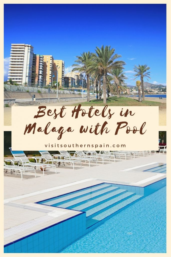 Are you looking for the best hotels in Malaga with pool? If a hotel with a pool is what you desire when visiting Malaga, Spain check out our guide to the best hotels with a pool in this charming Andalusian city. You can choose from beachfront hotels, hotels with indoor pool, or budget hotels. Nothing compares to a relaxing holiday by the pool in the beautiful Malaga city. Here are the 15 best hotels in Malaga with pool right now. #malaga #andalucia #hotelswithpool #poolhotels #holidayinspain