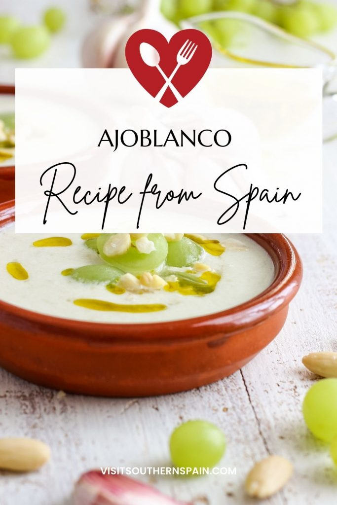 Are you looking for a Cold Garlic Soup recipe? The Ajo Blanco recipe is an Andalusian specialty for all the garlic lovers out there, having a unique taste. Ajo Blanco soup is a garlic soup recipe that is served during summertime and you can find it all over Spain, in restaurants and supermarkets alike. The ajoblanco recipe's main ingredients are garlic and almond, making the Spanish garlic soup a healthy and nutritious one. #coldgarlicsoup #ajoblanco #coldspanishsoup #garlicsoup #summersoup