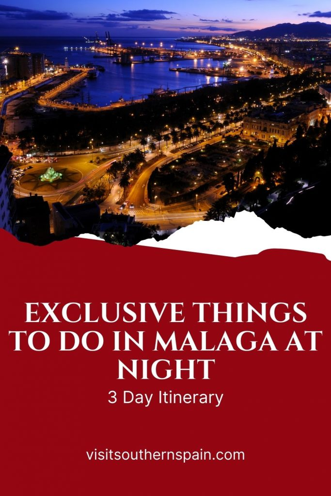 Are you looking for things to do in Malaga at night? Our list of the most interesting activities to do at night is a must-read if you are on a journey to the beautiful Andalusian town of Malaga. Relax in a restaurant with a sea view, dance in one of Malaga's night clubs or enjoy a chill night, tasting tapas. The choice is yours! Check out our guide to the 19 exclusive things to do in Malaga at night right now! #nightlifeinmalaga #thingstodo #malagaatnight #andalucia