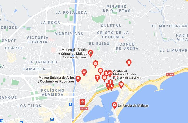 Map Best Things to do in Malaga with Kids