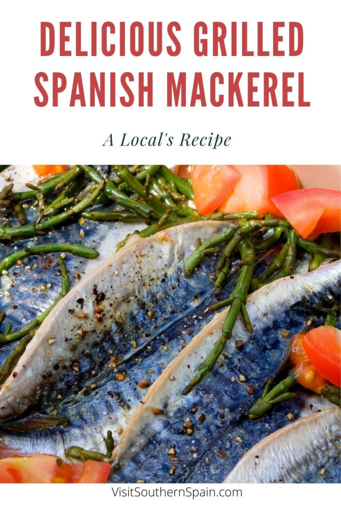 Are you looking for a Grilled Spanish Mackerel recipe? The Spanish mackerel is a recipe that puts the mackerel fish in the spotlight. This grilled Spanish mackerel is simple but you won't be disappointed by the Mediterranean flavors of this mackerel fish recipe. The vegetables are there to offer you a healthy and light Spanish dinner that will make you feel like in a Spanish restaurant on the beach. A must-try for every fish lover! #grilledmackerel #mackerelrecipe #spanishfish #fishrecipe #fish