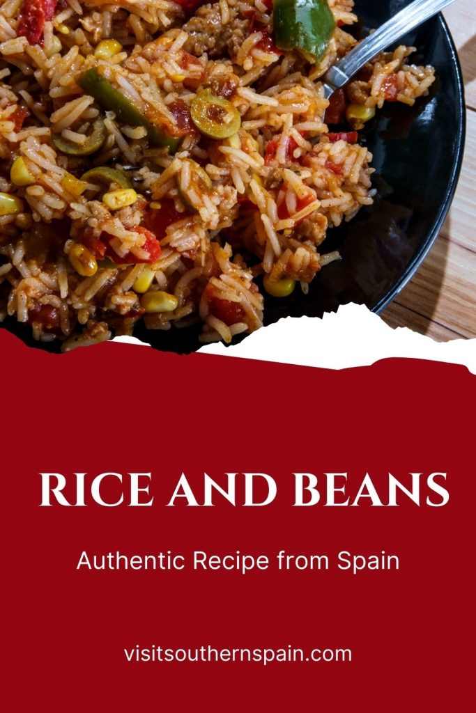 Are you looking for a Spanish Rice and Beans Recipe? This easy rice and beans recipe is here for you whenever you want to prepare a super easy lunch. The red beans and rice recipe is very accessible for it requires only 3 main ingredients - olives, rice, and beans. You will get an authentic Spanish rice and beans recipe, that is ready in no time but nonetheless, a nutritious and very tasty beans and rice meal. #spanishrice #beansandrice #ricewitholives #spanishlunch #ricerecipe