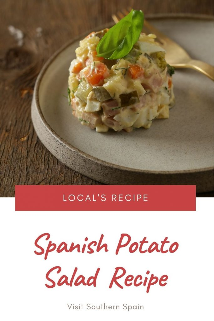 Are you looking for a Spanish Potato Salad Recipe? This Spanish salad or better known as ensaladilla rusa is easy to make and incredibly tasty. There isn't one restaurant or even supermarket that doesn't have this salad. A Sunday barbeque would be incomplete without a Spanish potato salad with tuna and it goes well with everything. Because it's both nutritious and delicious, Ensalada rusa is one of the best salads for any meal. #spanishsalad #ensaladarusa #potatosalad #spanishpotatosalad