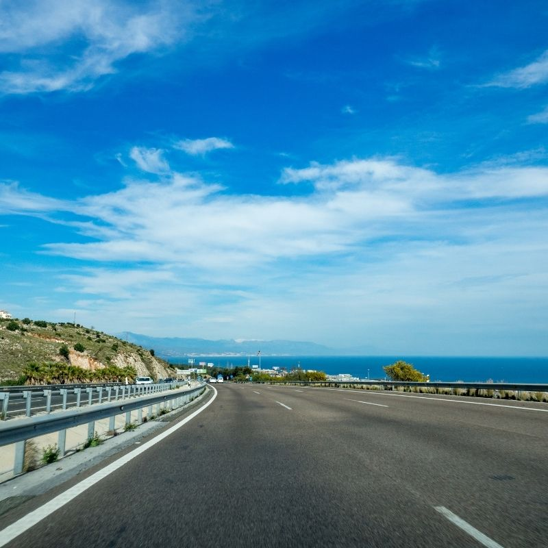 From Malaga to Nerja by Car
