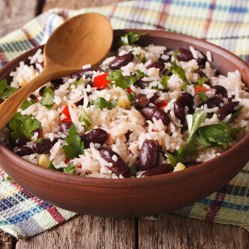 Super Easy Spanish Rice and Beans Recipe