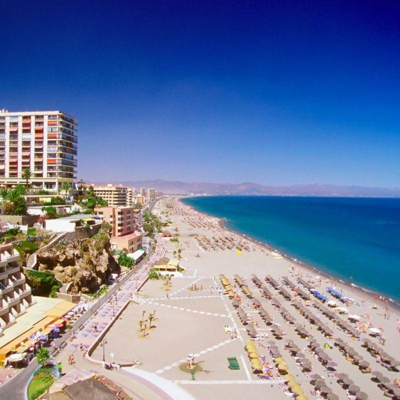 Best Beaches near Malaga, Bajondillo beach,Torremolinos