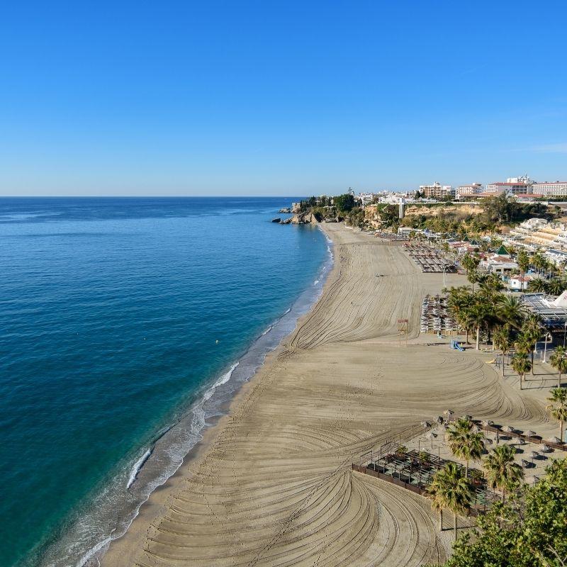 Best Beaches near Malaga, Burriana, Nerja