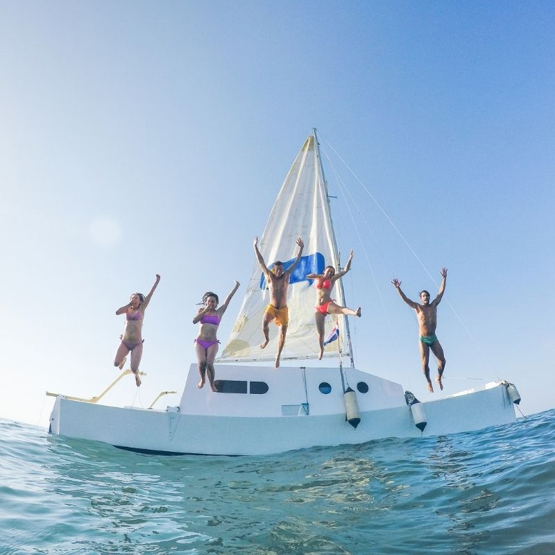 Best watersports in Malaga, Malaga: Catamaran Trip with Optional Stop for Swimming