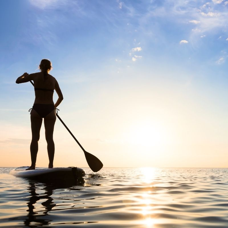 Best watersports in Malaga, Marbella: Stand-Up Paddle Board at Sunset