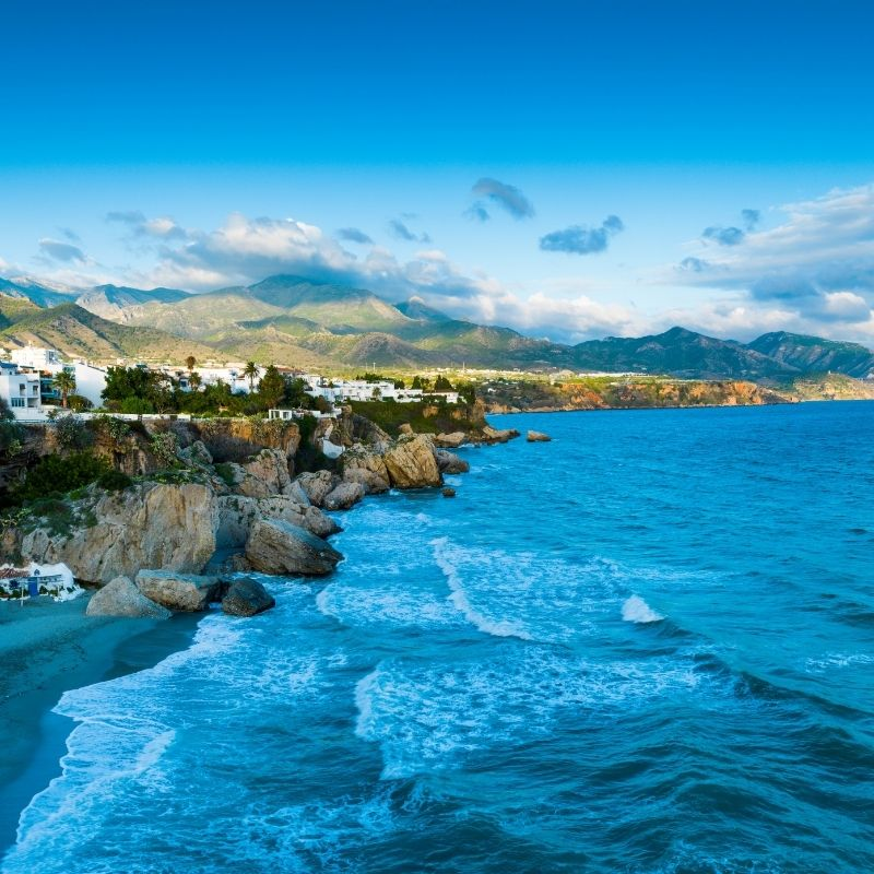 Best Beaches near Malaga, Playa el Canuelo, Nerja