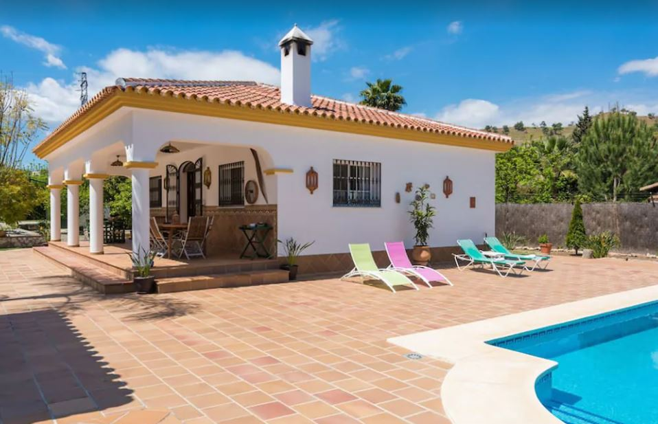 Rural House Vacation in Andalusia, with Swimming Pool & Garden, best holiday villas in malaga