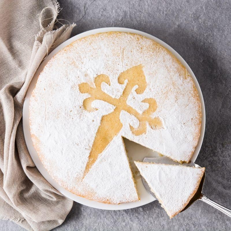 Spanish Almond Cake - Tarta de Santiago